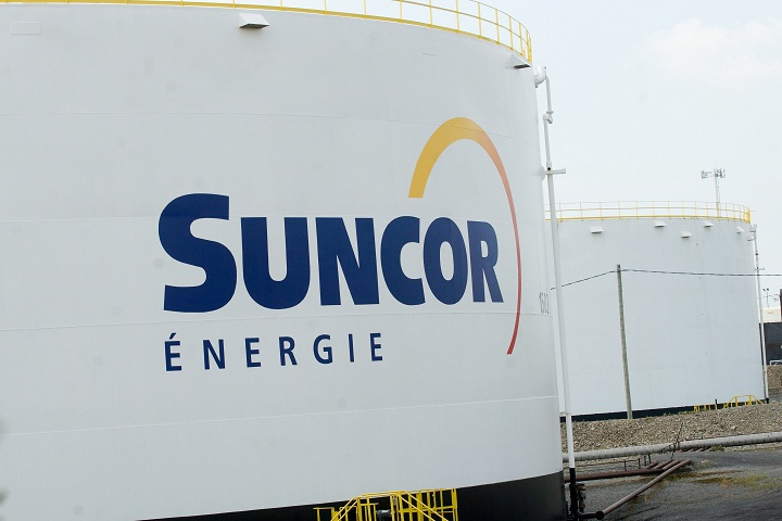 A Suncor storage tank in Montreal's east end.