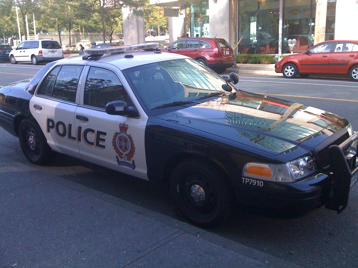 Transit Police cruiser.