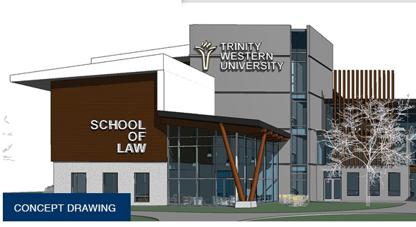 A concept drawing of Trinity Western University's proposed law school.