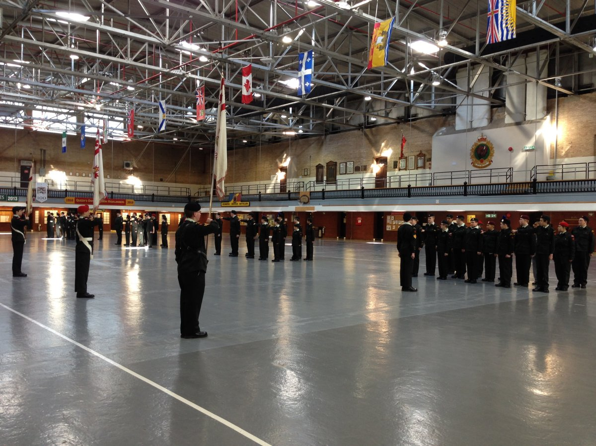Cadets line up for annual Vimy Ridge memorial parade.