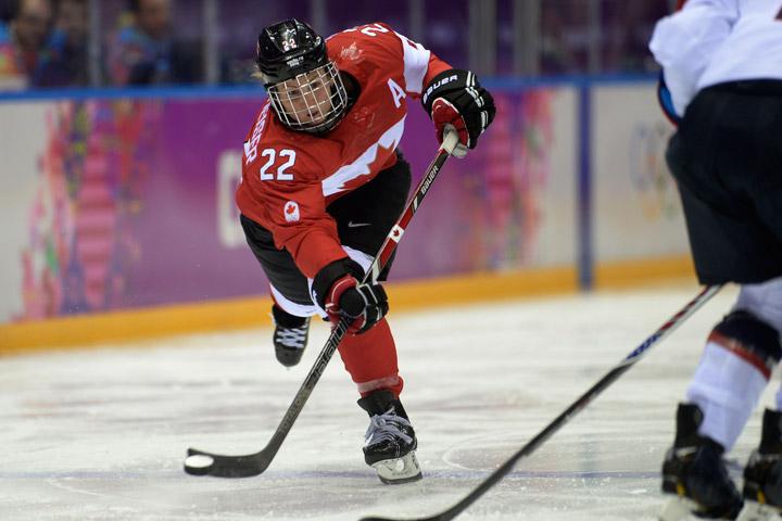 Veteran forward Hayley Wickenheiser played with broken foot in Sochi, Russia.