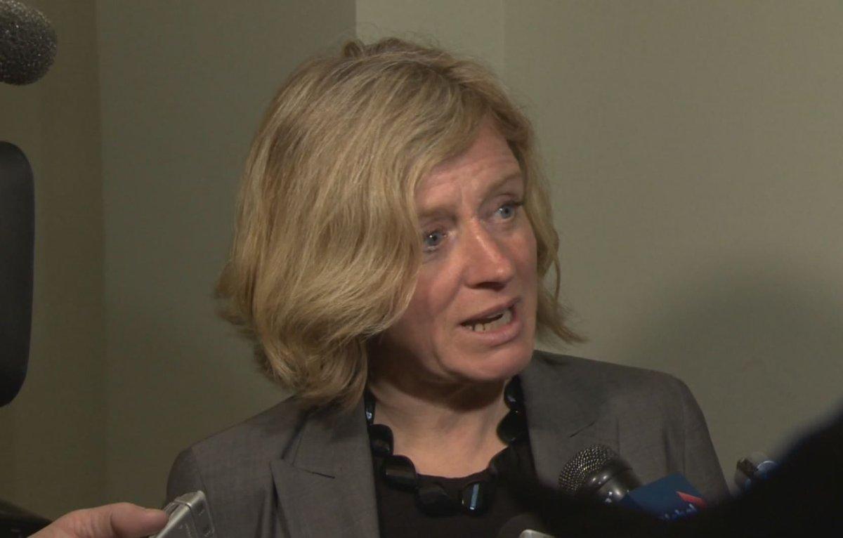Rachel Notley, seen here in April 2014.