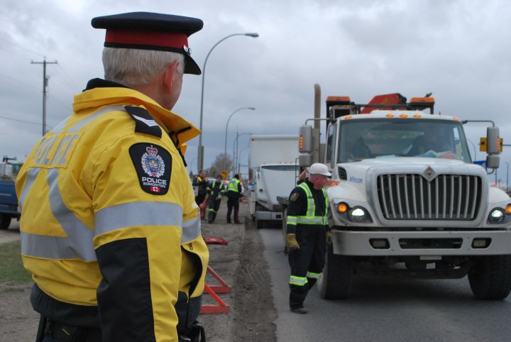 The Edmonton Police Service held a three-day commercial vehicle inspection safety blitz May 6-8, 2014.