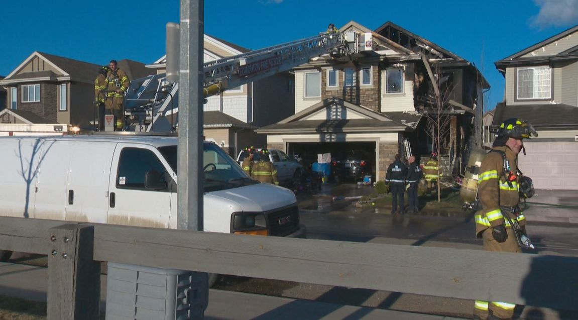 A fire in north Edmonton caused $500,000 to two homes Tuesday evening.