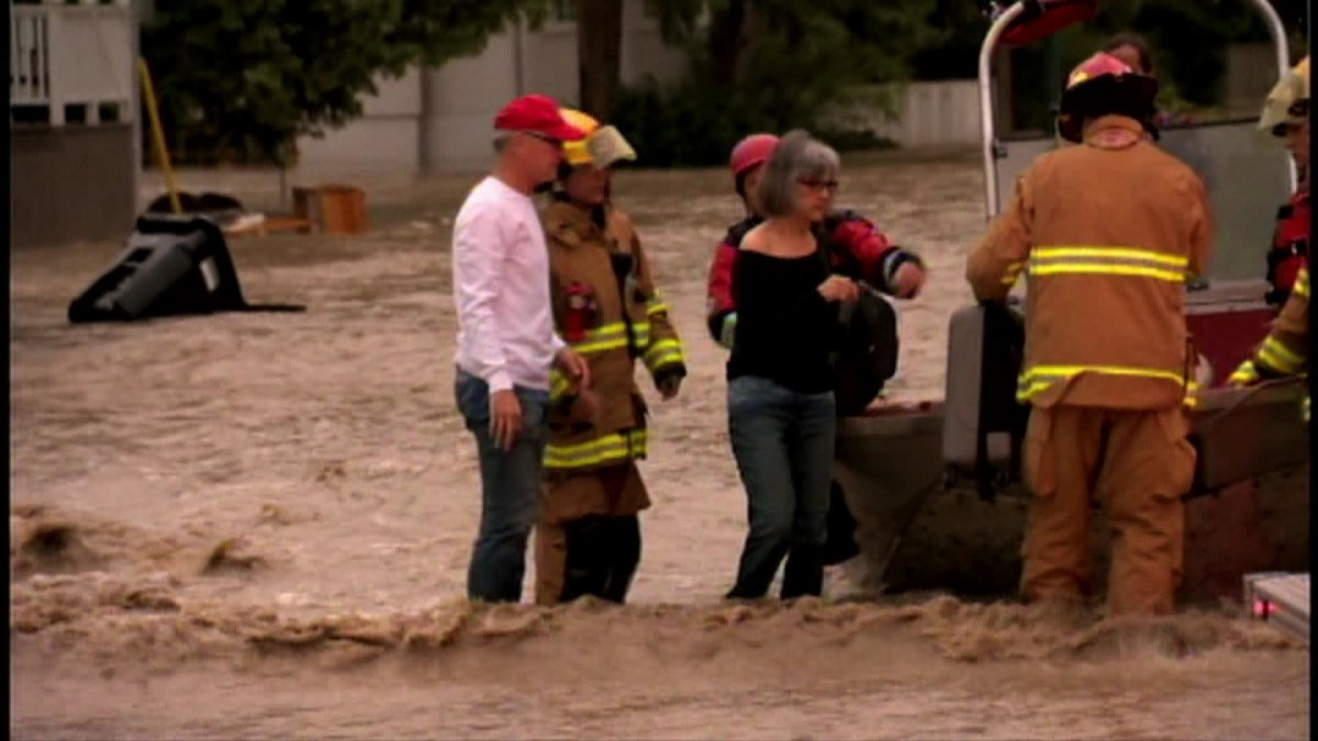 Emergency responders rescued dozens of people from the flood waters in communities along the Elbow and Bow Rivers/June 20, 2013.
