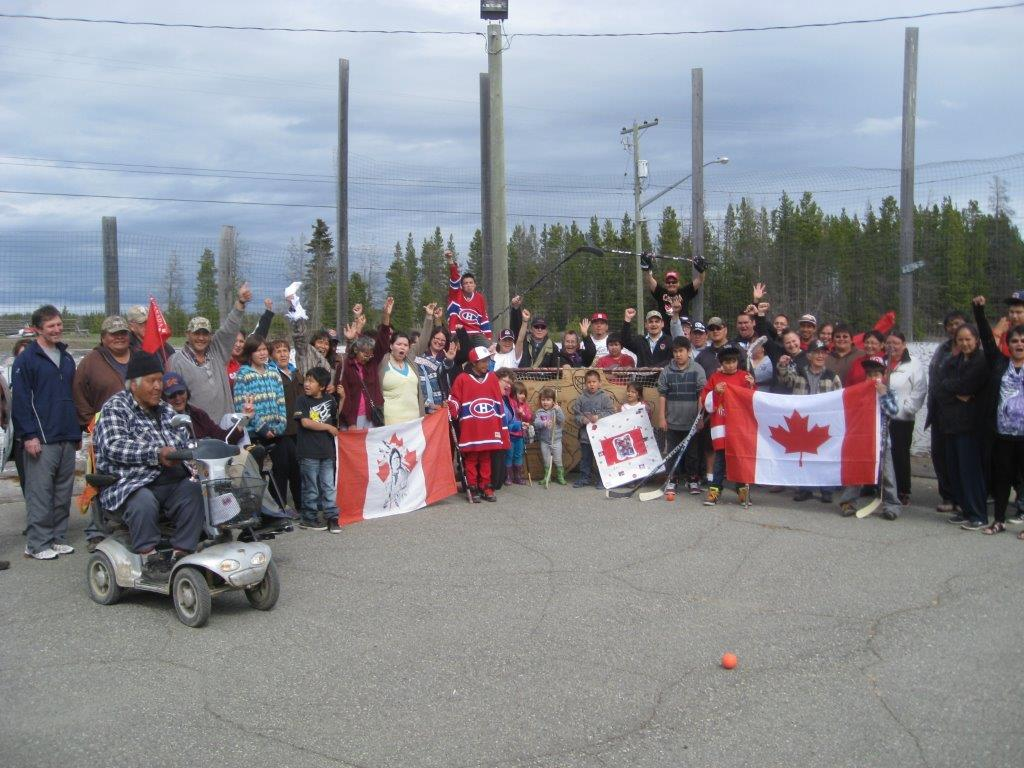 The people of Anahim Lake held a rally to support hometown goalie Carey Price a day before the Montreal Canadiens played the Boston Bruins in Game 7.