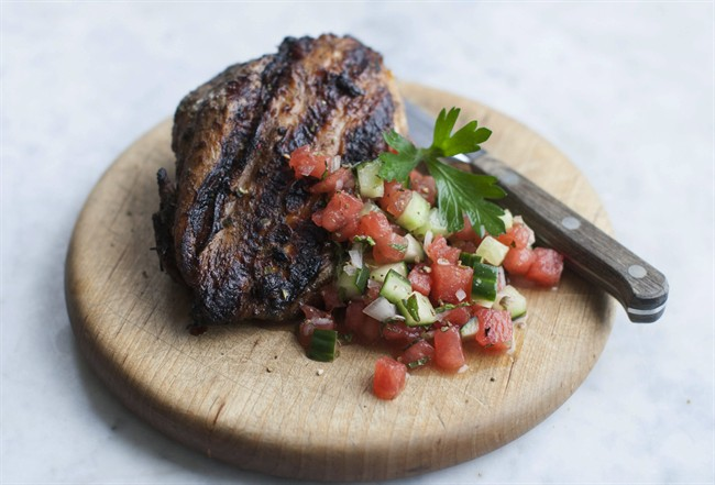 A healthy way with fiery chicken and cooling salsa