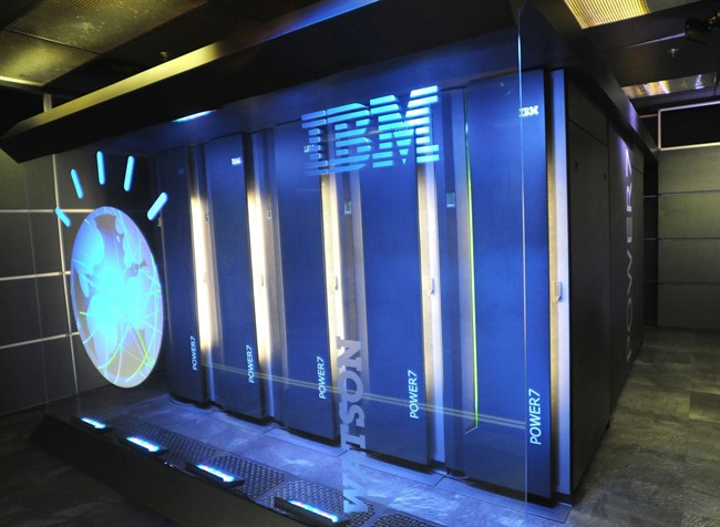 A Jan. 13, 2011 file photo provided by IBM shows the IBM computer system known as Watson, at IBM's T.J. Watson research center in Yorktown Heights, N.Y.