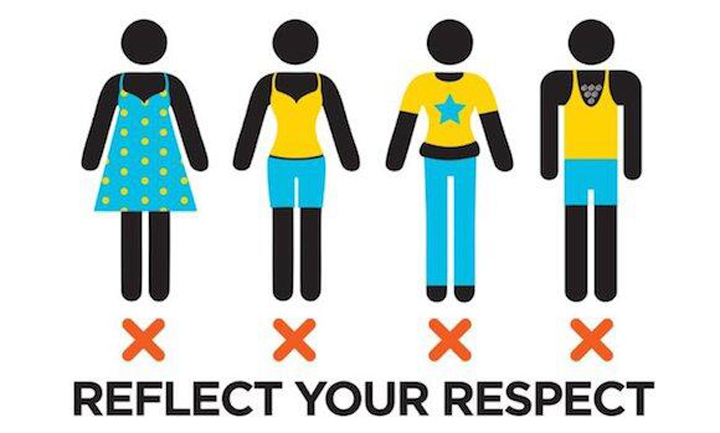 """Qatar has launched a campaign urging tourists to dress """"modestly"""" in public."""