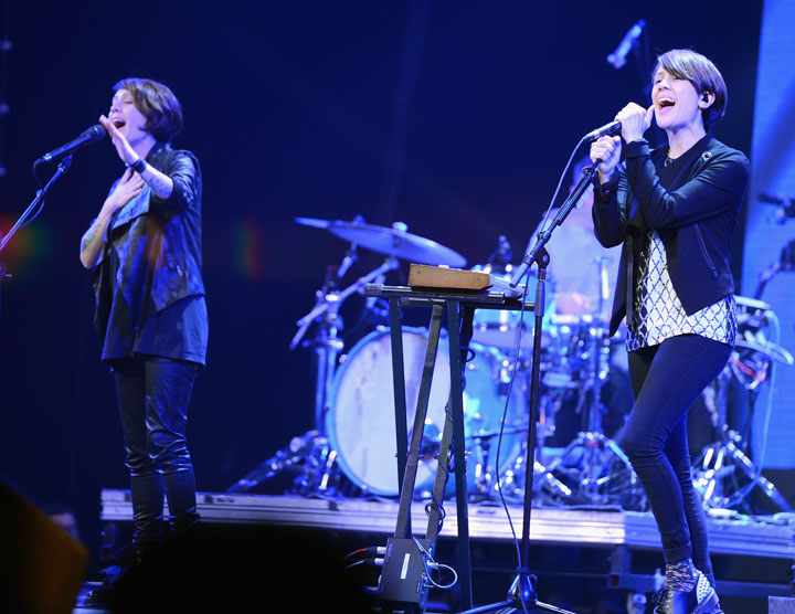 Tegan and Sara, pictured in February 2014.