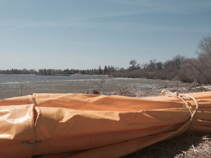 This curtain sealed off Winnipeg Beach Harbour on Lake Winnipeg in Manitoba while about 18,000 gallons of potash are dumped into the water in an effort to eradicate zebra mussels.