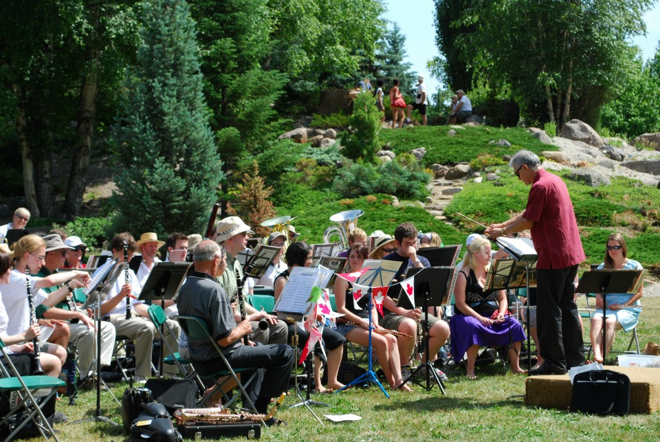 The U of A Summer Band performs during a Canada Day celebration at the Devonian Botanic Garden.