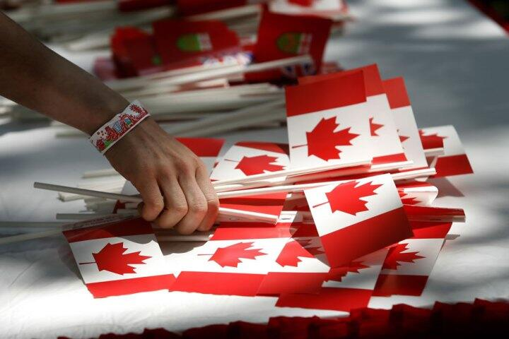 Canada Day flags.