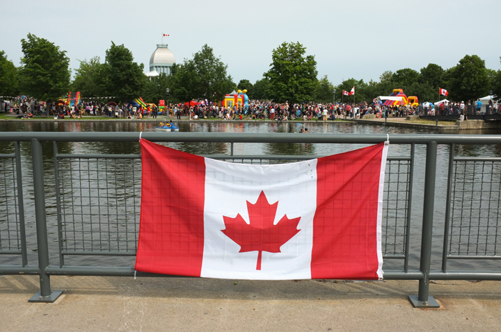 Canada Day celebrations in the Old Port of Montreal, Que., July 1, 2013.
