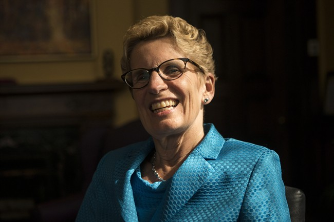 Premier Kathleen Wynne is photographed in her Queen's Park Office in Toronto on Wednesday June 18, 2014.