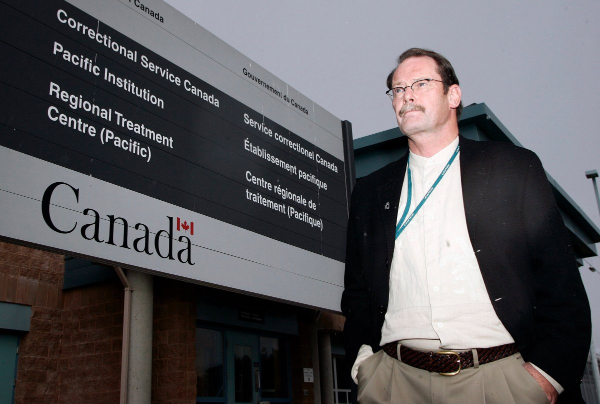 Circles of Support and Accountability western coordinator Andrew McWhinnie photographed outside the Correctional Service's regional treatment centre in Abbotsford, B.C., on Sept. 14, 2006.