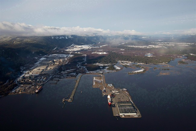 Douglas Channel, the proposed termination point for an oil pipeline in the Enbridge Northern Gateway Project, is pictured in an aerial view in Kitimat, B.C., on Tuesday January 10, 2012. The 1,177-kilometre twin pipelines would run from Bruderheim, just outside Edmonton, to a tanker port in Kitimat, on the northern coast of B.C.