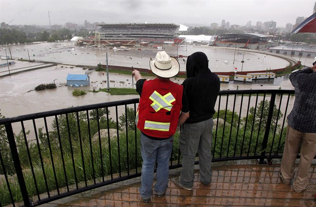 Calgary 2013 flood Stampede grounds