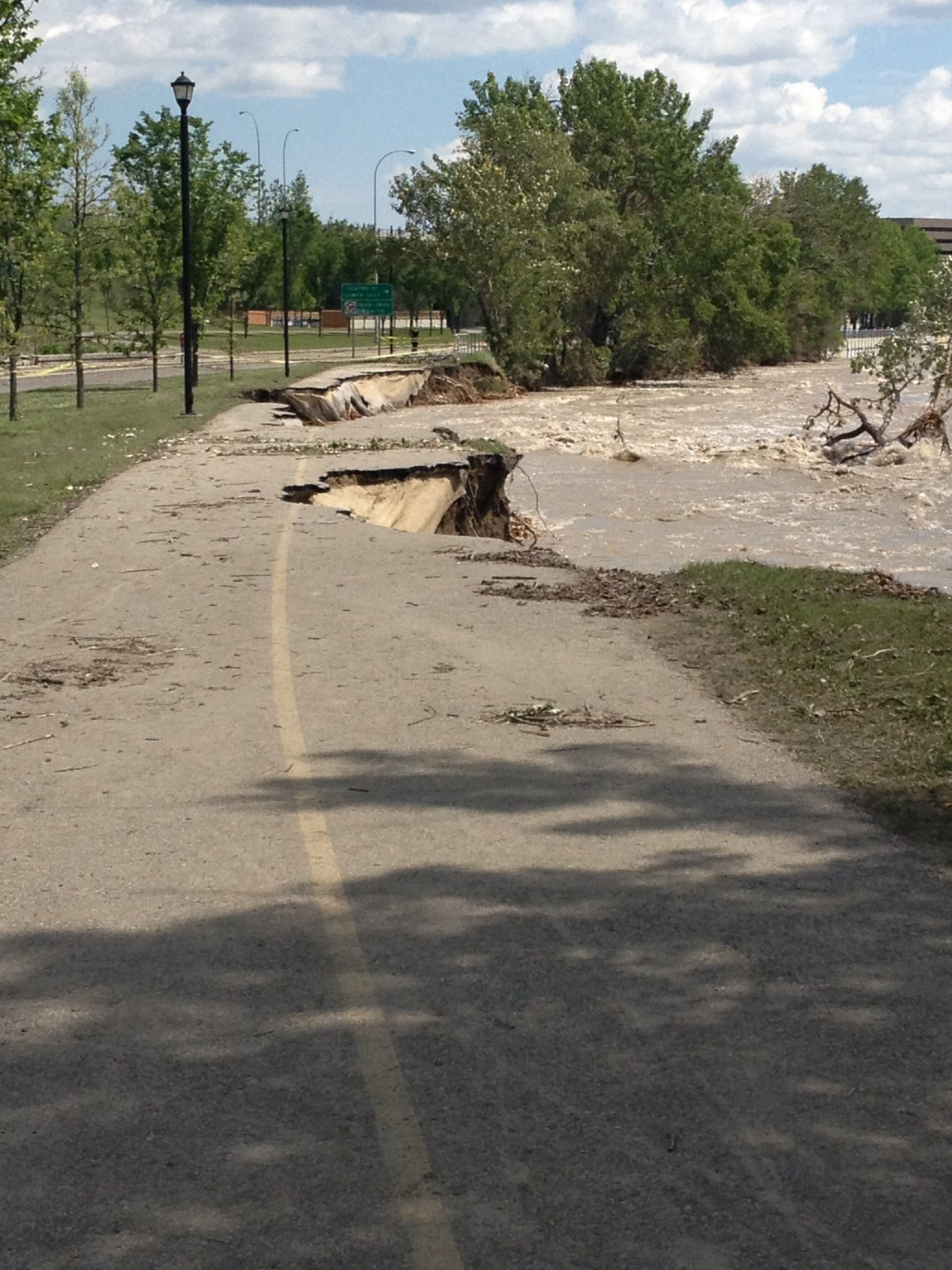 Flood damage in Calgary in 2013.