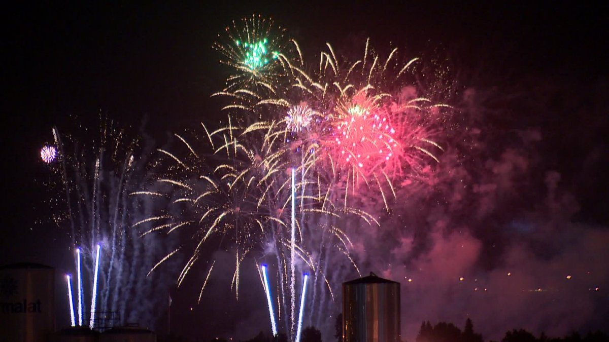 Canada Day wraps up with a bang with fireworks at the Centre Street Bridge.
