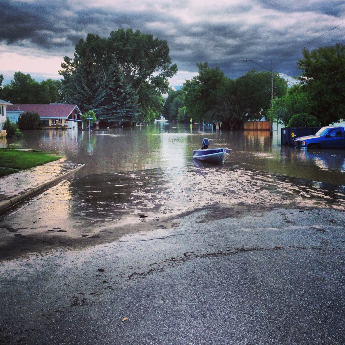 Flooding in High River. in 2013.