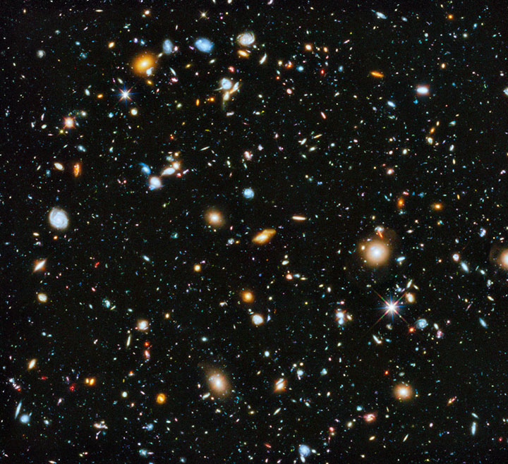 Hubble's most colourful view of the universe ever captured by the space telescope.