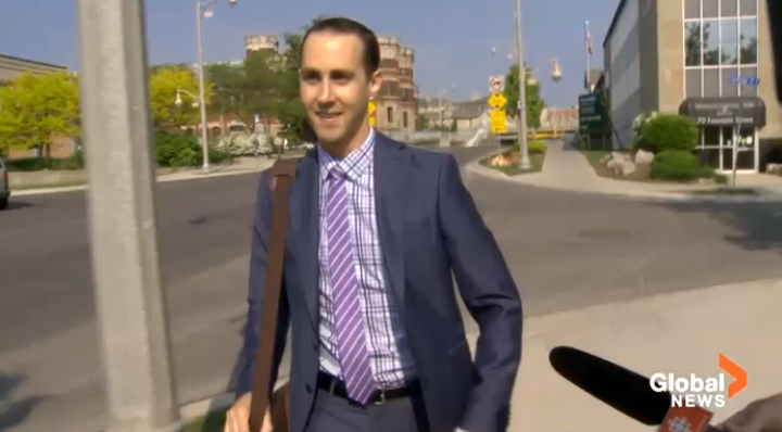 Michael Sona heads to court in Guelph, Ont.