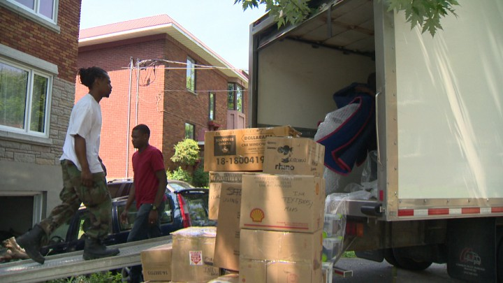 Montrealers prepare to move as July 1st approaches.