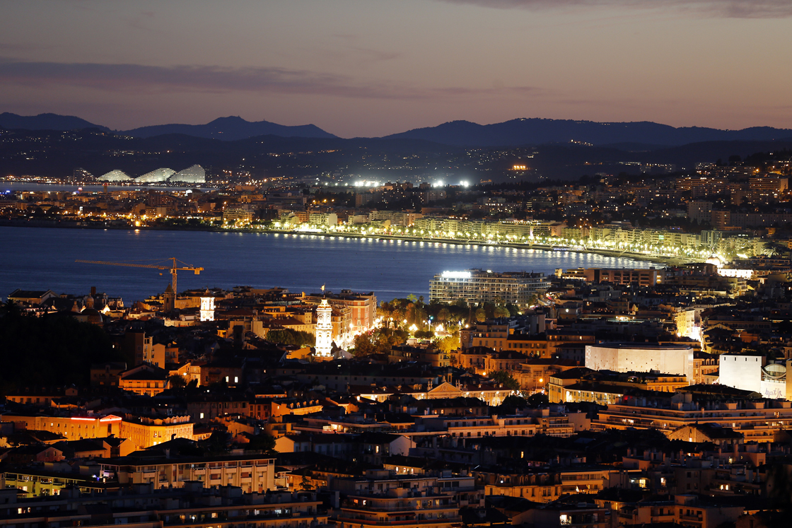 View of the 'Baie des Anges' on July 29, 2013 in Nice, southeastern France. AFP PHOTO / VALERY HACHE (Photo credit should read VALERY HACHE/AFP/Getty Images)