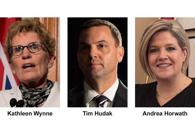Ontario's three major party leaders