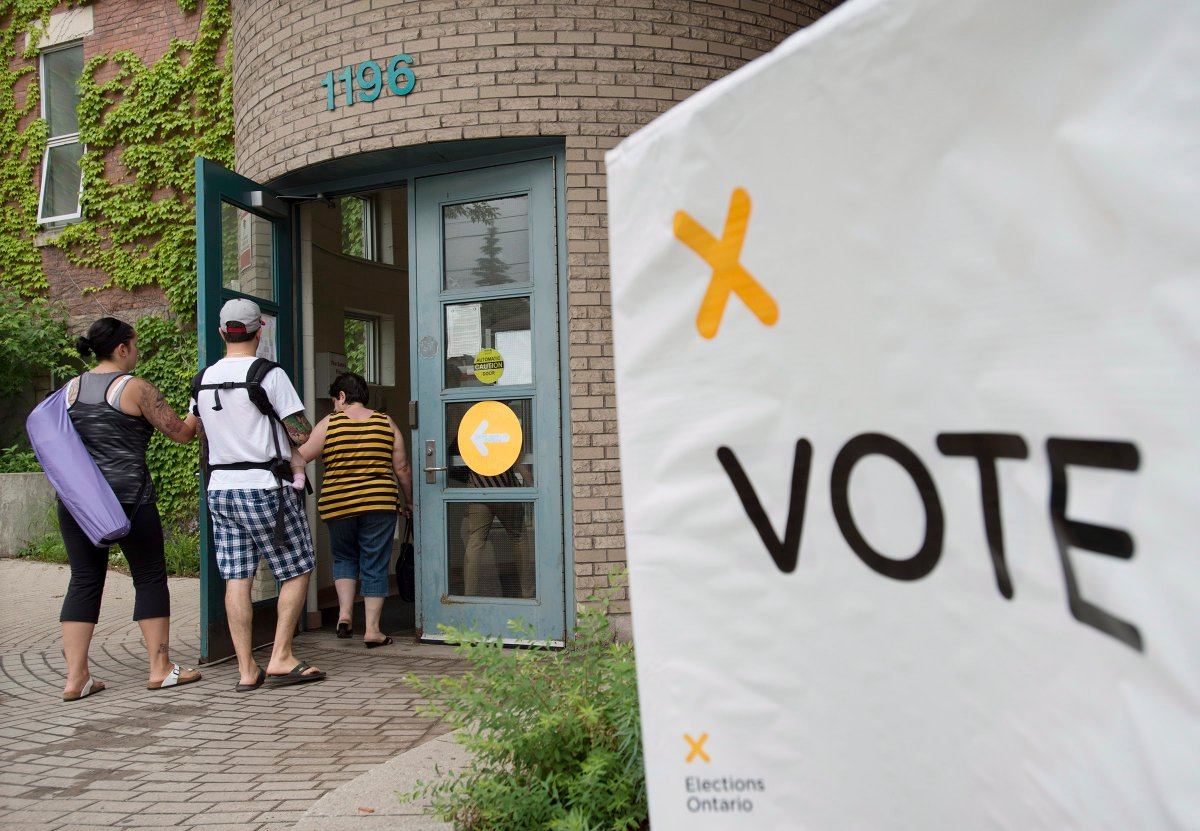 Voters in Ontario go to the polls on June 7 in the 2018 provincial election (file photo).
