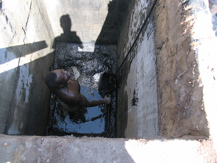 An example of an open-pit toilet. Photo used under Creative Commons licence CC BY-SA 3.0.