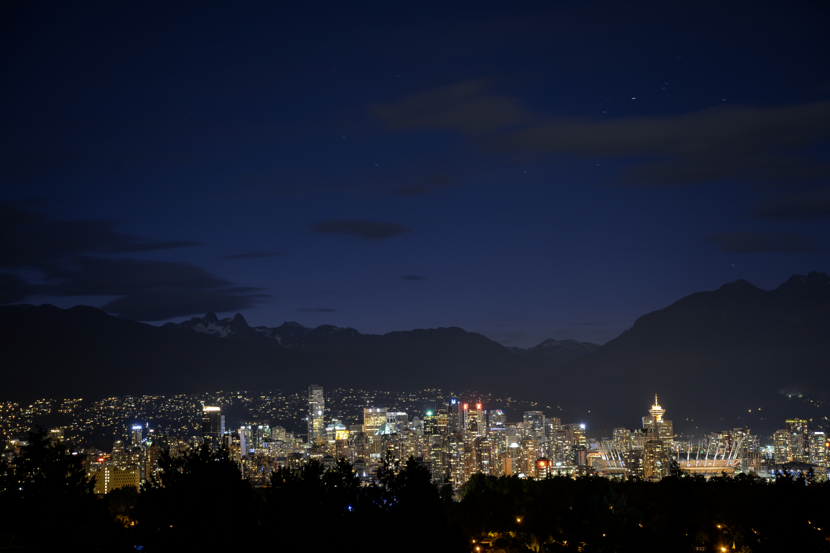 The view from Queen Elizabeth Park in Vancouver.