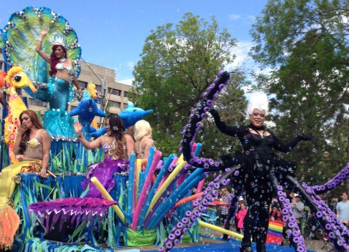 Pride Parade makes its way through downtown Edmonton Saturday, June 7, 2014.