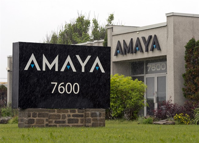 The Amaya Gaming Group headquarters are seen Friday, June 13, 2014 in Montreal.