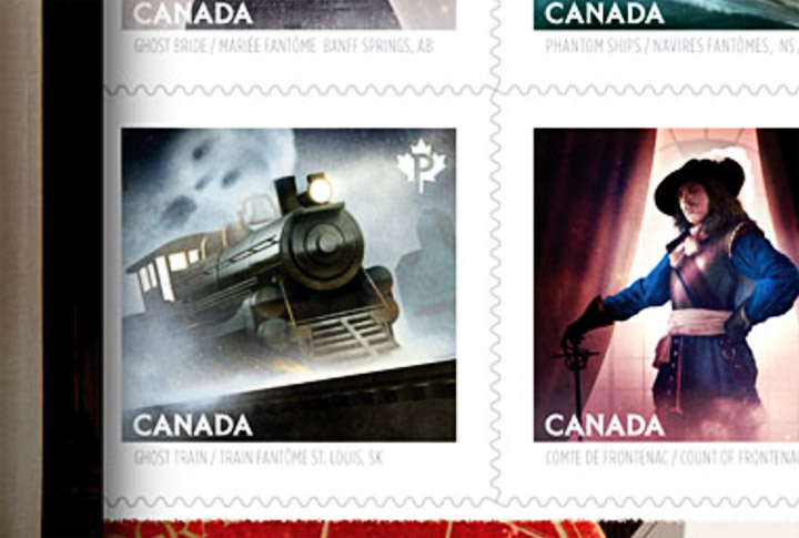 Tale of Saskatchewan town's ghost train depicted on new Canada Post stamp.