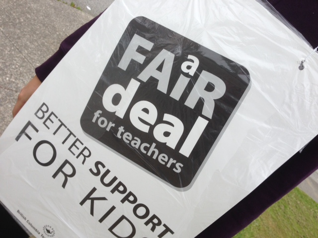 Teachers on the picket line on day 1 of the full-scale strike.