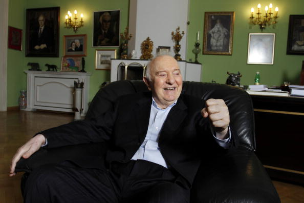Eduard Shevardnadze, the former Georgian president, smiles during an interview at his home in Tbilisi, Georgia, on Wednesday, Sep. 1, 2010.