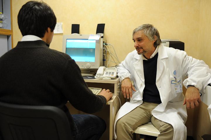 Psychiatrist with patient
