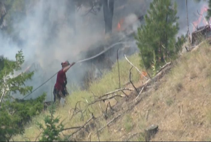 A file photo of crews actioning a wildfire in the South Okanagan.