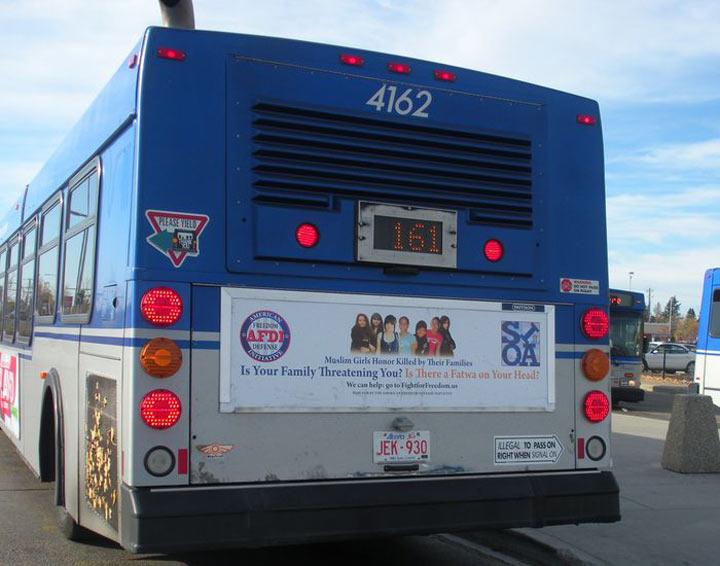 Edmonton honour killing bus ad