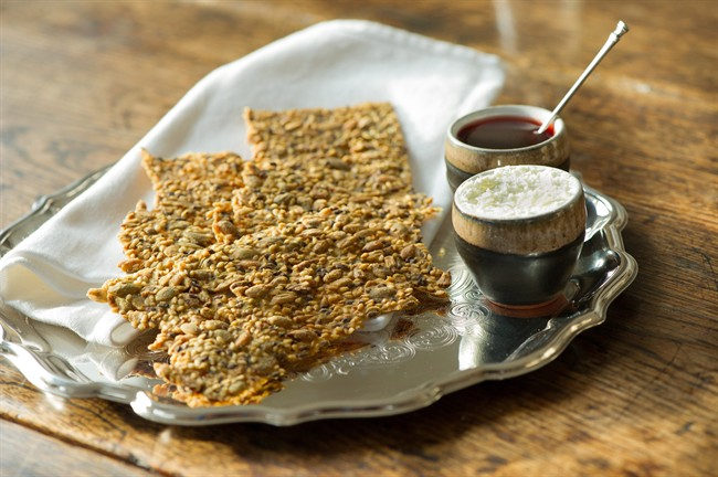 Arctic char liver pate birch syrup pecan squares