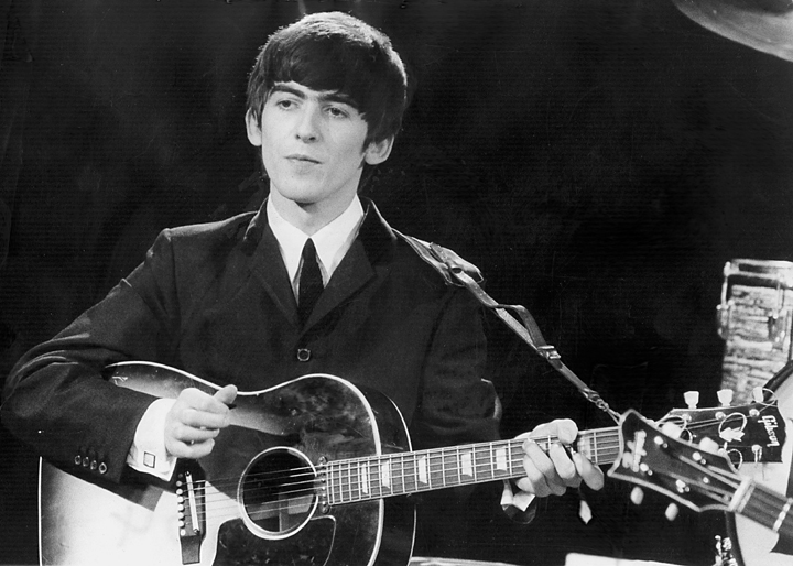 Beatles guitarist and singer George Harrison is seen in this December 3, 1963 file photo.