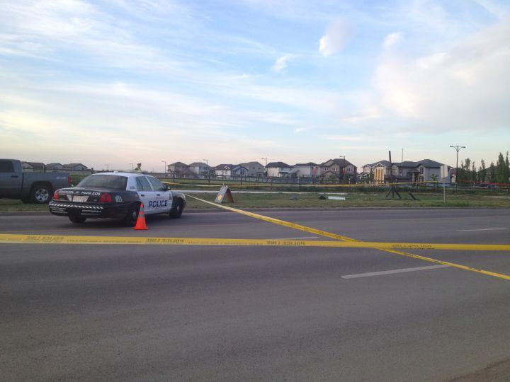 An elderly woman was killed when she was hit by a truck in west Edmonton Friday, July 4, 2014.