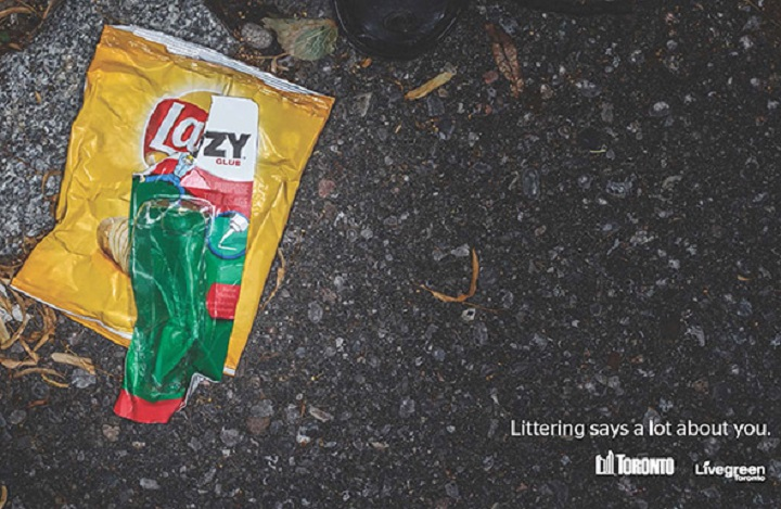 A City of Toronto anti-littering campaign has been trashed due to trademark concerns.