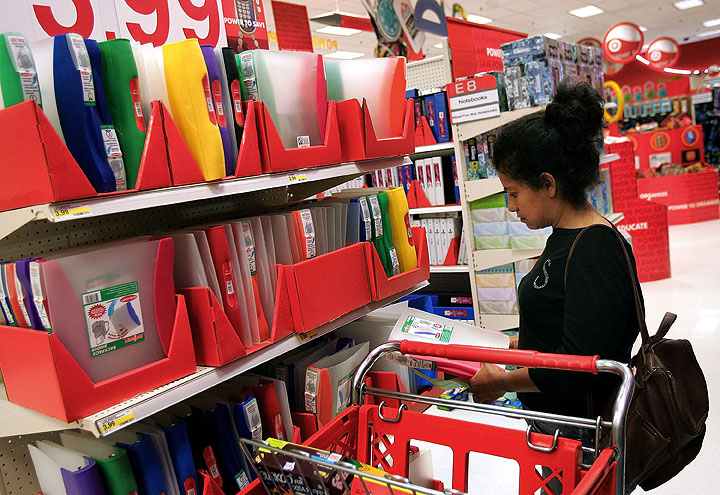 Tips for saving money when back to school shopping.
