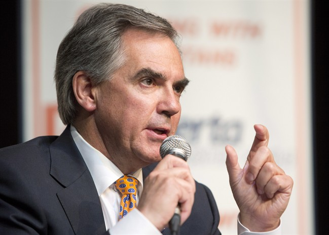 PC Alberta leadership candidate Jim Prentice speaks during the Alberta Progressive Conservative leadership forum in Edmonton, Alberta on Thursday Aug. 21, 2014.