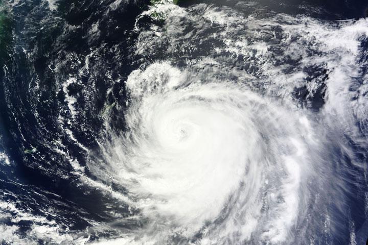 Typhoon Halong as seen from NASA's Terra satellite on Aug. 7, 2:35 UTC.