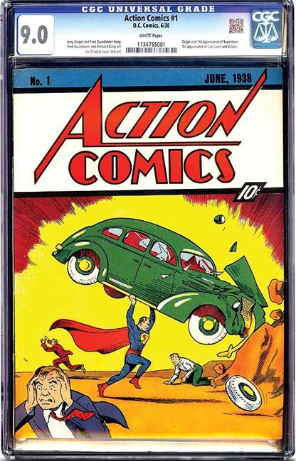 Rare copy of Superman comic book fetches 3.2M