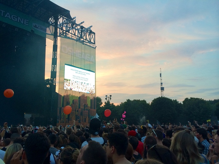 A crowd of thousands at last year's Osheaga festival, August 4, 2014.